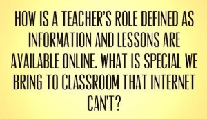 How is a teacher's role defined